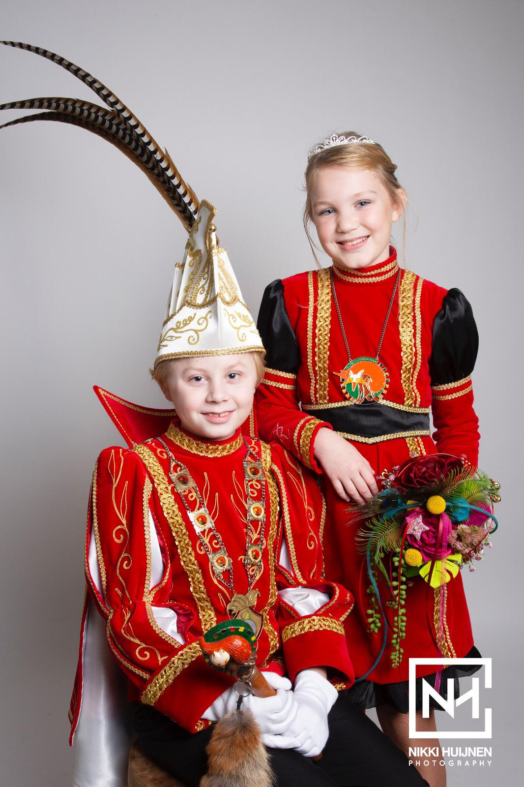 Jeugdprins Keano en Jeugdprinses Rosalie nieuwe Jeugdhoogheden